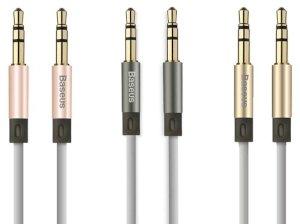 کابل صدا بیسوس Baseus Fluency Series AUX Audio Cable 1.2M