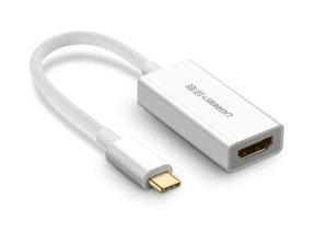 مبدل تایپ سی به اچ دی ام آی یوگرین Ugreen 40273 USB-C To HDMI Adapter 10CM
