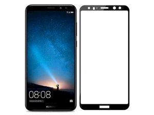 محافظ صفحه نمایش شیشه ای تمام چسب هواوی 4D Glass Huawei Mate 10 Lite