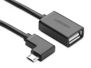 کابل تبدیل میکرو یو اس بی به یو اس بی یوگرین Ugreen Micro USB to USB Female OTG Cable