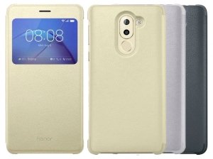 کیف چرمی اصلی هواوی Huawei Honor 6X Leather Smart View Cover