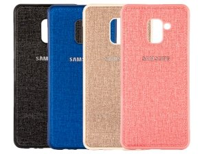قاب محافظ طرح پارچه ای سامسونگ Protective Cover Samsung Galaxy A8 2018