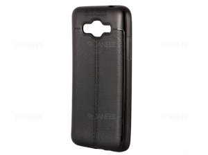 قاب ژله ای طرح چرم سامسونگ Auto Focus Jelly Case Samsung Galaxy Grand Prime