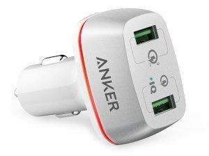 شارژر فندکی سریع دو پورت انکر Anker PowerDrive+ 2 Quick Charge 3.0 Car Charger