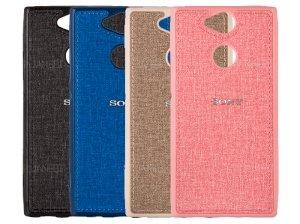 قاب محافظ طرح پارچه ای سونی Protective Cover Sony Xperia XA2