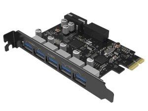 هاب یو اس بی اینترنال 5 پورت اوریکو Orico 5 Port USB3.0 PCI-E Expansion Card PVU3-5O2I-V1