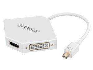 مبدل مینی دیسپلی پورت به اچ دی ام آی و دی وی آی و وی جی ای اوریکو Orico Mini DisplayPort to HDMI / DVI / VGA Adapter DMP-HDV3S