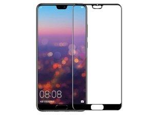 محافظ صفحه نمایش شیشه ای تمام چسب هواوی Full Glass Screen Protector Huawei P20 Pro