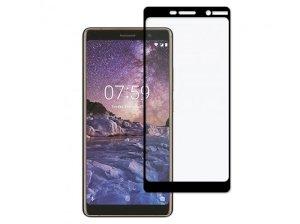 محافظ صفحه نمایش شیشه ای تمام چسب نوکیا Full Glass Screen Protector Nokia 7 Plus
