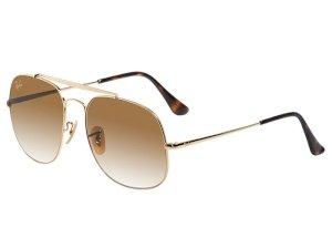 عینک آفتابی اورجینال ری بن طلایی Ray Ban RB 3561-9001/A5 SunGlasses
