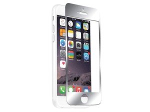 محافظ صفحه نمایش شیشه ای نقره ای نزتک آیفون Naztech Silver Tempered Glass Screen Protector iPhone 6/6s