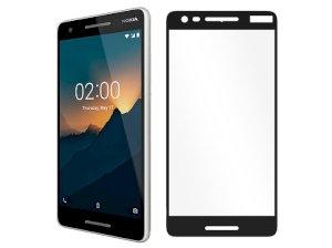 محافظ صفحه نمایش شیشه ای تمام چسب نوکیا Full Glass Screen Protector Nokia 2.1
