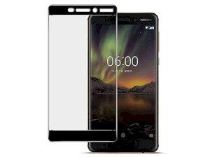 محافظ صفحه نمایش شیشه ای تمام چسب نوکیا Full Glass Screen Protector Nokia 6.1