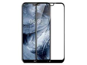 محافظ صفحه نمایش شیشه ای تمام چسب نوکیا Full Glass Screen Protector Nokia 6.1 Plus /Nokia X6