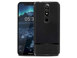 قاب ژله ای طرح چرم نوکیا Becation Ruged Armor Case Nokia 5.1 Plus /Nokia X5