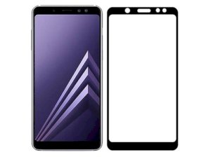 محافظ صفحه نمایش شیشه ای تمام چسب سامسونگ Full Glass Screen Protector Samsung Galaxy A6 Plus 2018