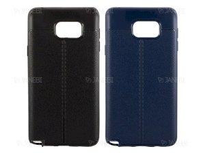 قاب ژله ای طرح چرم سامسونگ Auto Focus Jelly Case Samsung Galaxy Note 5