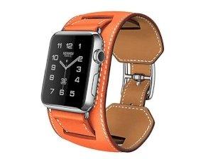 بند چرمی دو دور اپل واچ Hoco Apple Watch Art Series Platinum Leather Watchband 42mm