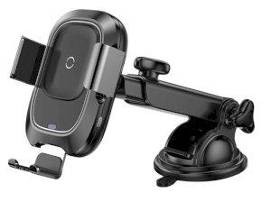 پایه نگهدارنده هوشمند و شارژ بی سیم داخل خودرو بیسوس Baseus Wireless Charger Car Mount