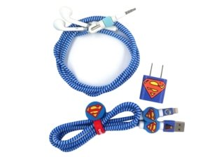 پک محافظ کابل شارژ آیفون سوپرمن Charger Protector Super Man