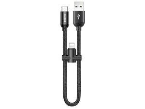 کابل دو سر لایتنیگ و تایپ سی بیسوس Baseus U-shaped portable data cable