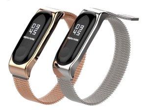 بند فلزی آهن ربایی دستبند سلامتی Xiaomi Metal Mi Band 3 Magnetic Strap