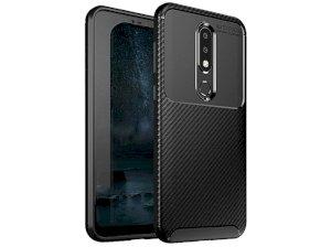 قاب ژله ای فیبر کربن نوکیا Becation Carbon Fiber Case Nokia 6.1 Plus /Nokia X6