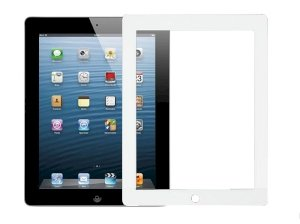 محافظ صفحه نمایش شیشه ای تمام صفحه آیپد RG Full Glass iPad 2/3/4