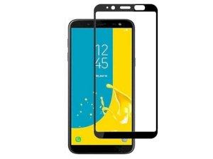 محافظ صفحه نمایش شیشه ای تمام چسب سامسونگ Tempered Glass Samsung Galaxy J6