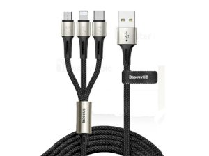 کابل شارژ سه سر بیسوس Baseus Charging 3 in 1 Cable 1.2m