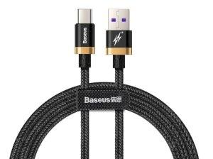 کابل تایپ سی سریع بیسوس Baseus Purple Gold Red Flash Type-C Cable 2m