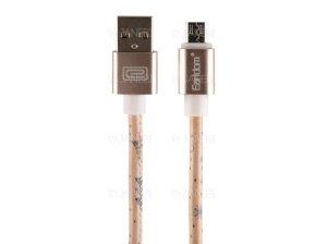 کابل چرمی میکرو یو اس بی ارلدام Earldom EC-21 Micro USB Cable 1m