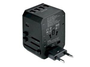 شارژر دیواری چندشاخه انرژیا Energea TravelWorld Adapter USB Charger