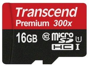 رم میکرو اسدی 16 گیگابایت Transcend Class 10 Premium 300X