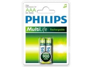 باتری نیم قلمی قابل شارژ 900 میلی آمپر مارک Philips