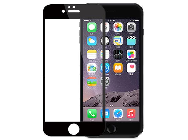 محافظ صفحه نمایش شیشه ای مشکی Apple iphone 6 Plus