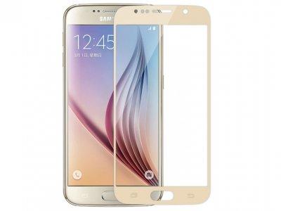 محافظ صفحه نمایش شیشه ای طلایی Samsung Galaxy S6 مارک Nillkin
