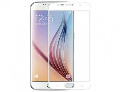 محافظ صفحه نمایش شیشه ای سفید Samsung Galaxy S6 مارک Nillkin