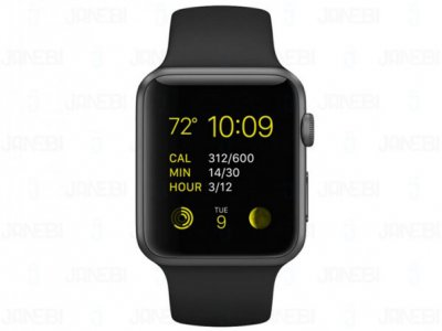 ساعت هوشمند اپل Apple Watch 42mm Space Gray Aluminum Case with Black Sport Band