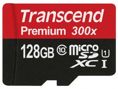رم میکرو اسدی 128 گیگابایت Transcend Class 10 Premium 300X