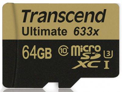 رم میکرو اسدی 64 گیگابایت Transcend 64GB microSD Ultimate 633X Class 10