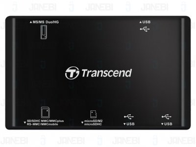 هاب و کارت خوان Transcend RDP7 USB 2.0 Card Reader/Hub
