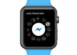 عرضه برنامه پیام رسان فیسبوک بر روی ساعت هوشمند اپل
