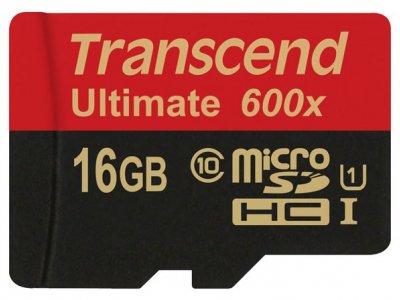 رم میکرو اسدی 16 گیگابایت Transcend Class 10 Ultimate 600X