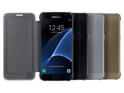 فیلیپ کاور اصلی Samsung Galaxy S7 edge Clear View Flip Cover