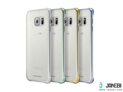 قاب محافظ شیشه ای اصلی Samsung Clear Cover S6 edge