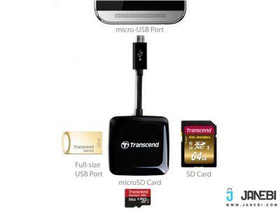 دستگاه کارت خوان Transcend RDP9 Smart OTG Card Reader