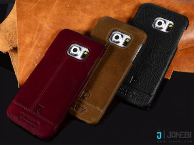 قاب چرمی پیر کاردین Pierre Cardin Genuine Leather For Samsung Galaxy S6 edge