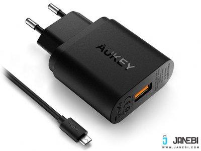 شارژر دیواری با قابلیت شارژ سریع آکی Aukey PA-T9 18W USB Wall Charger with Quick Charge 3.0