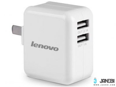 شارژر دیواری لنوو Lenovo AC210 Travel Charger 2.1A Double USB Charger